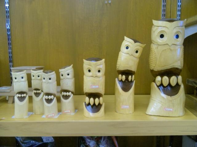 工藤さんの木彫りの