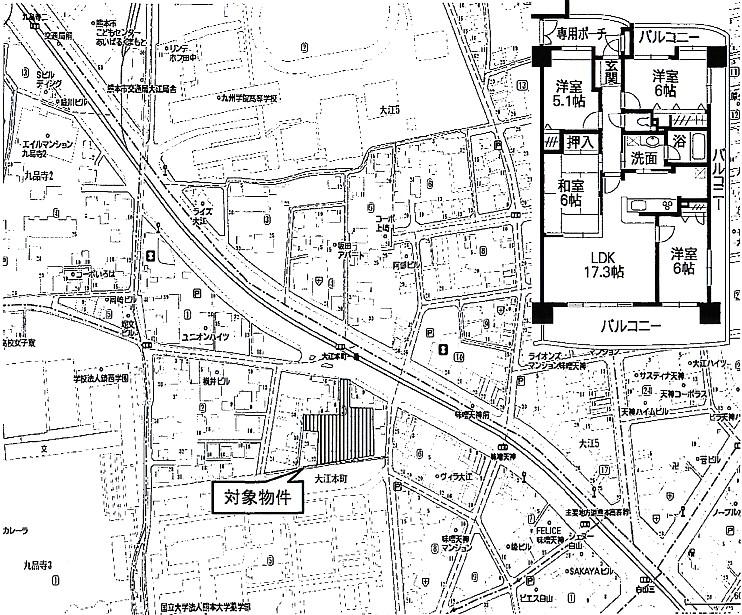 熊本市中央区大江本町3-18-706号室