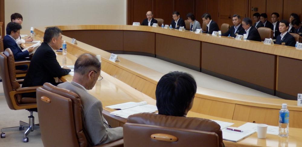 県庁での意見交換会