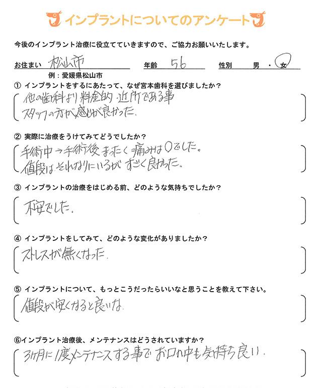 インプラント 体験者アンケート23