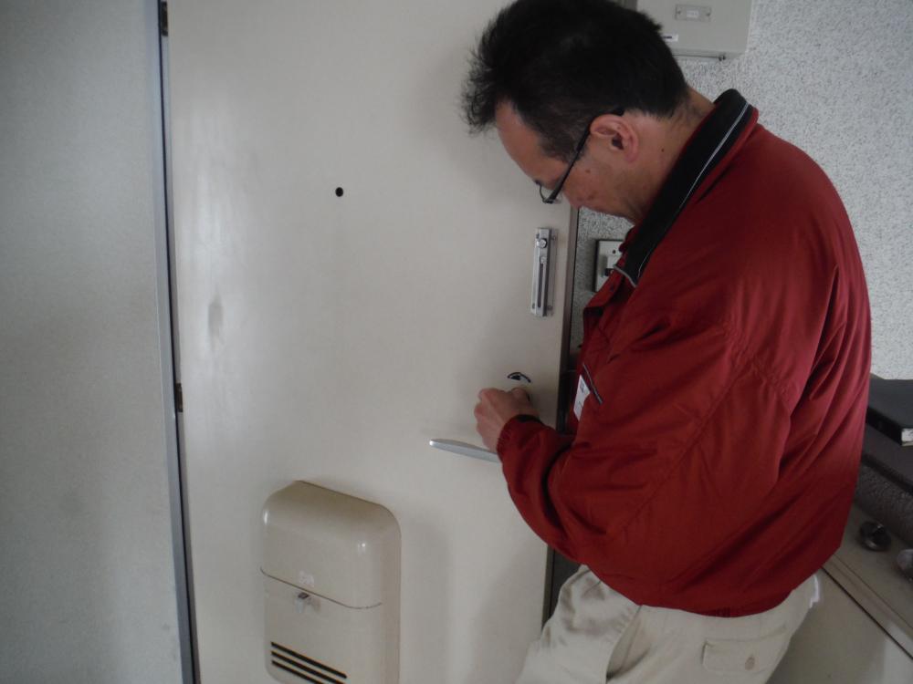 玄関シリンダー交換