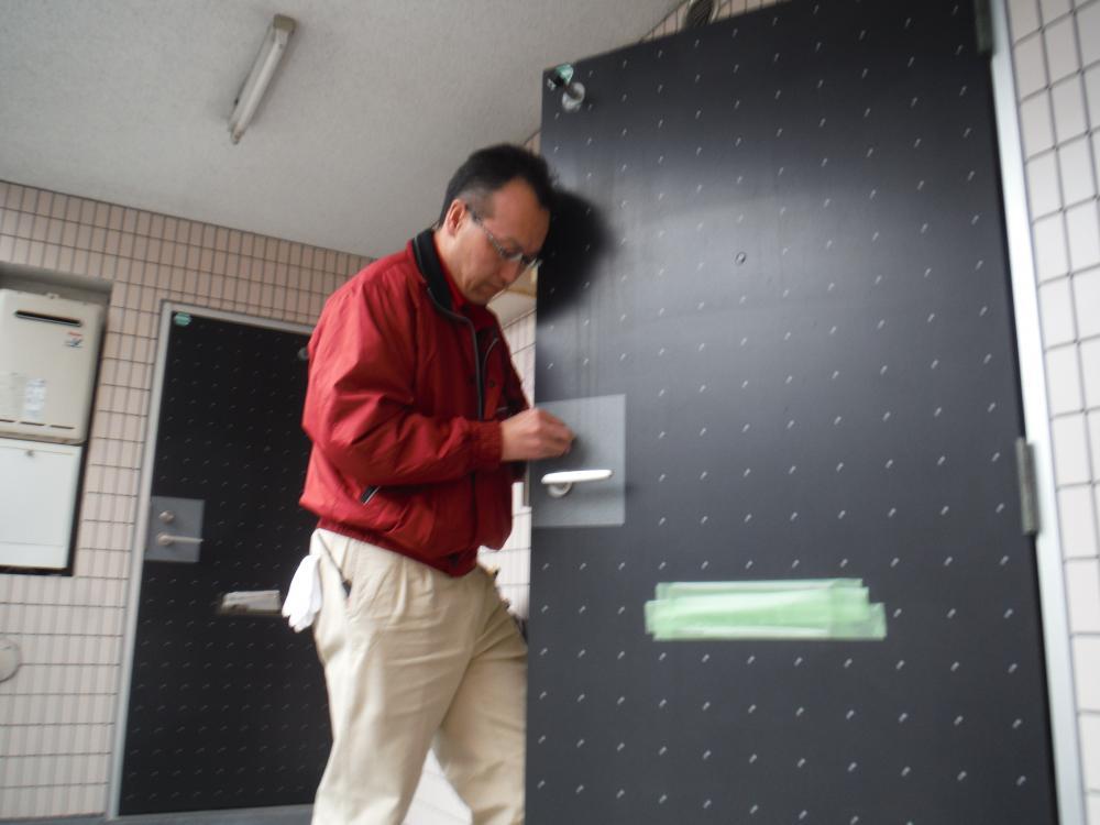 玄関シリンダー交換2