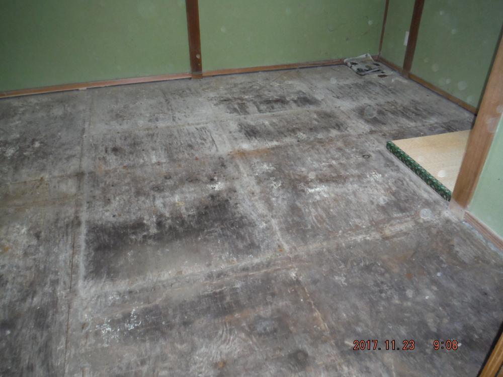 和室床下改修工事
