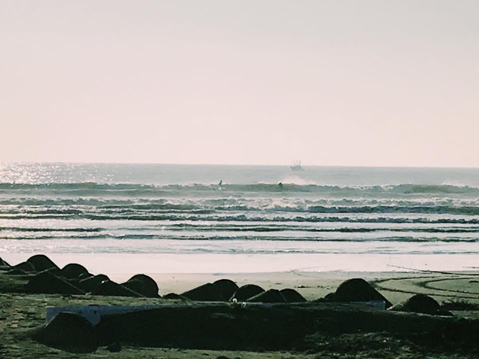 今朝の大洗の海