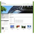 ホームページテンプレートs22緑
