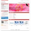 ホームページテンプレートb02赤