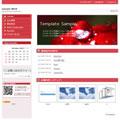 ホームページテンプレートp02赤
