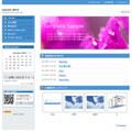 ホームページテンプレートp03青