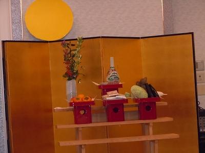 観月会祭壇