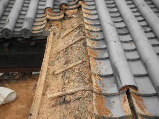 箕の甲瓦修復工事