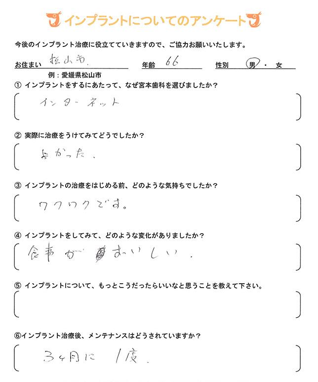 インプラント 体験者アンケート24