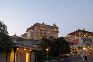 TDL外のホテル夕暮