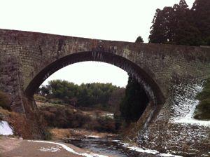 冬の通潤橋1