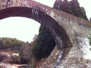 冬の通潤橋3