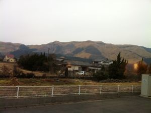 冬の阿蘇外輪山