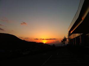 阿蘇立野の夕日