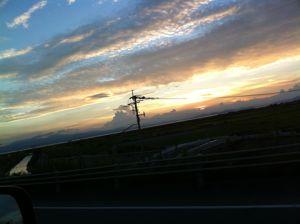 夏の夕焼け!
