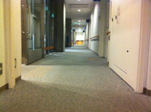 市民会館の廊下!