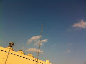 駐車場の屋上!