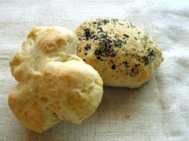 温食パン(芋)、温食パン(紫蘇)