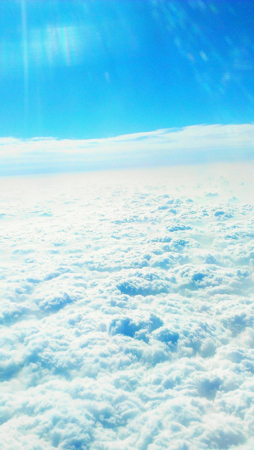 上海帰りの上空