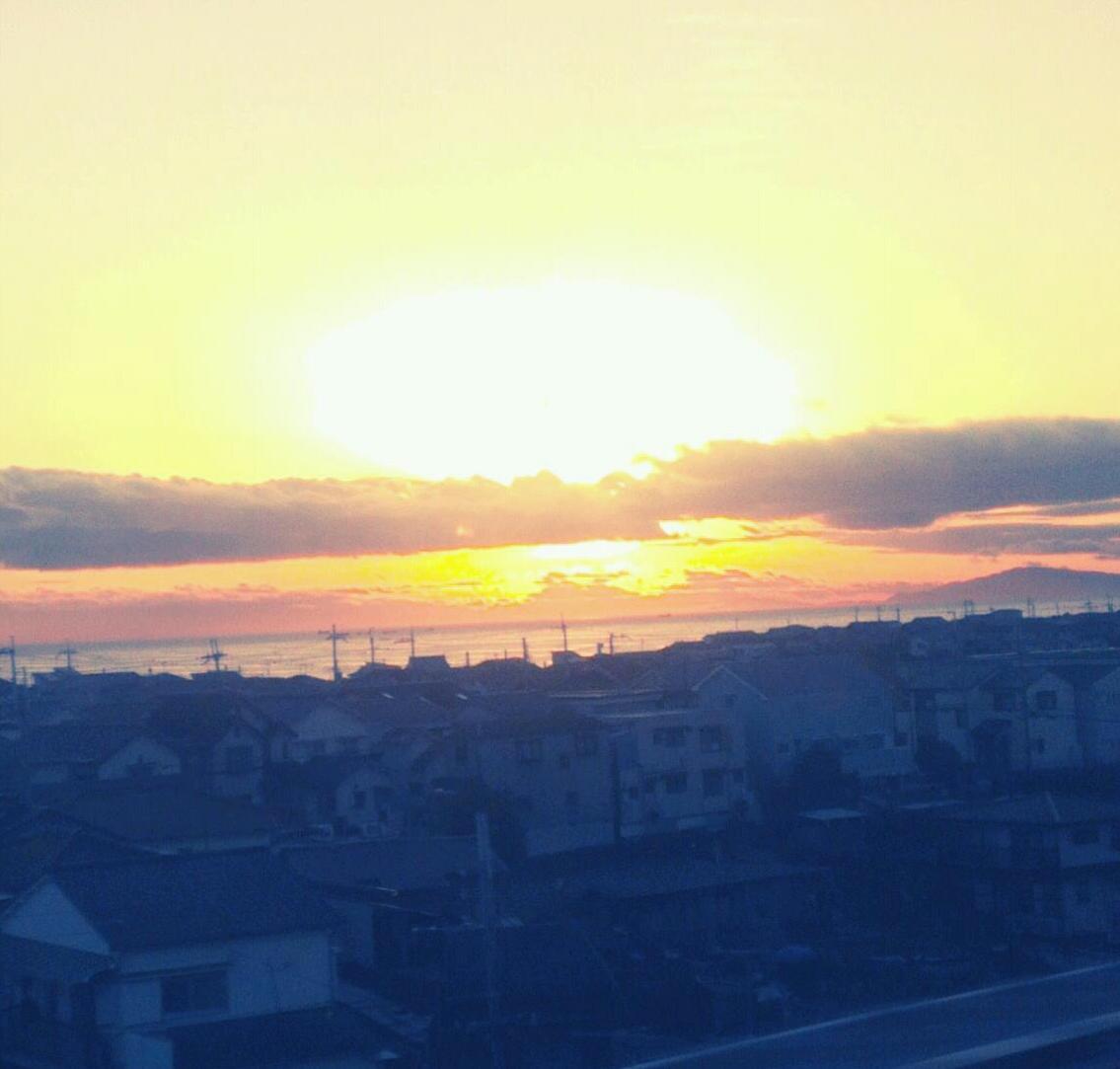 神戸の夕日が美しい!
