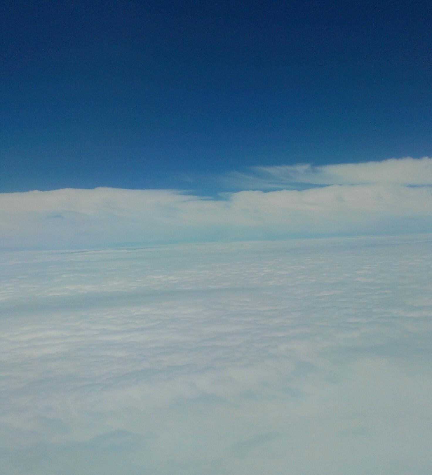 東シナ海上空