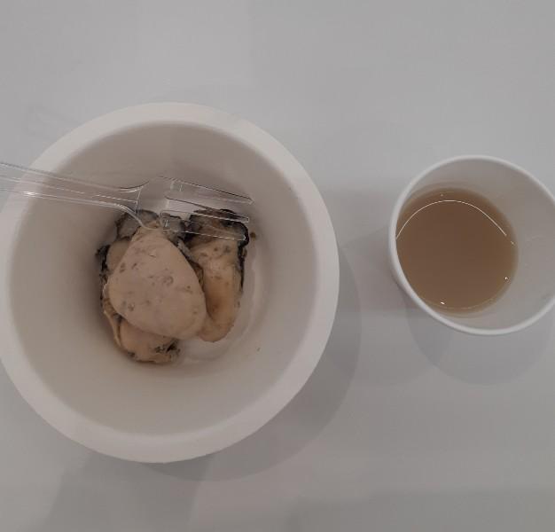 牡蠣とスープ
