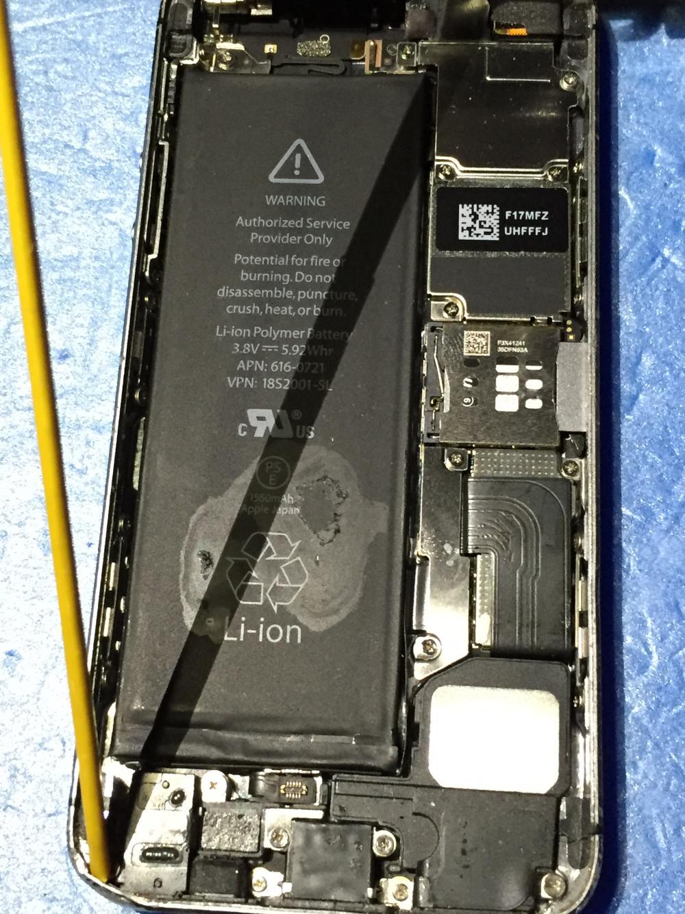 メンテナンスカーにてiPhone無料診断・修理料金お見積り・修理作業