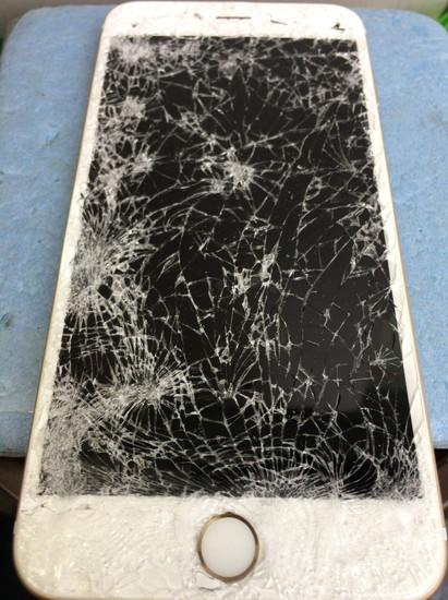 iPhone6画面割